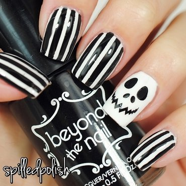Jack Skellington nail art by Maddy S
