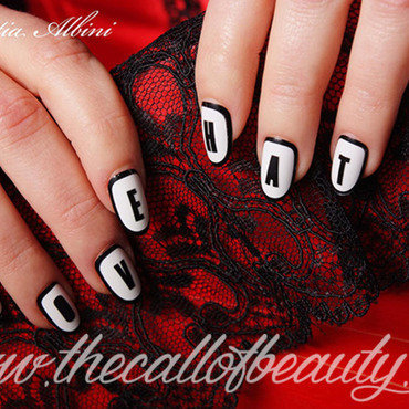 Love/Hate Manicure nail art by The Call of Beauty