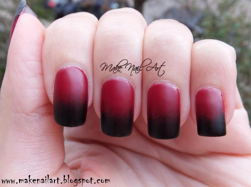 Halloween Black And Red Gradient nail art by Make Nail Art