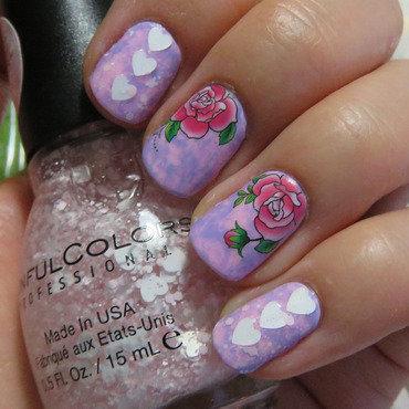 Valentine's Day Saran Wrap Manicure nail art by Emelie J