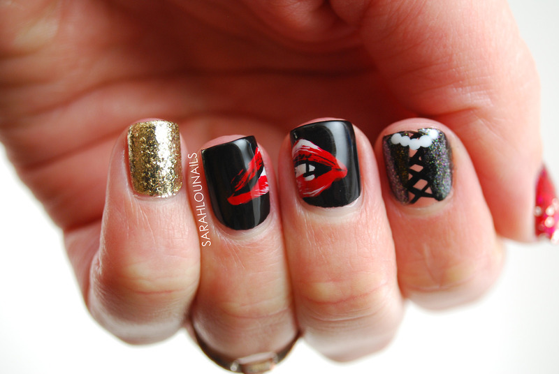 Rocky Horror Nails! nail art by Sarah S