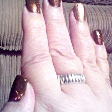 Autumn glitter nail art by upgirlcd