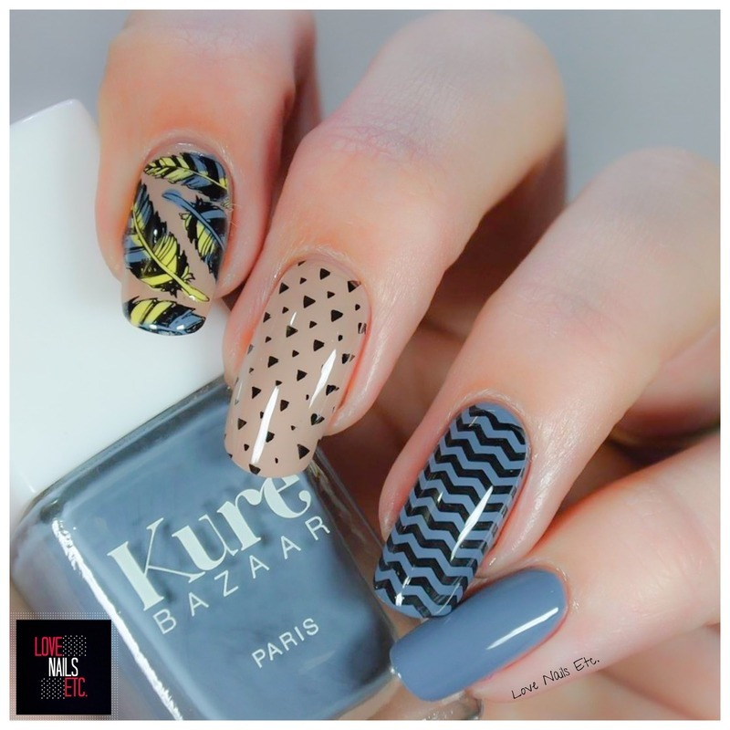 Feather Nails nail art by Love Nails Etc