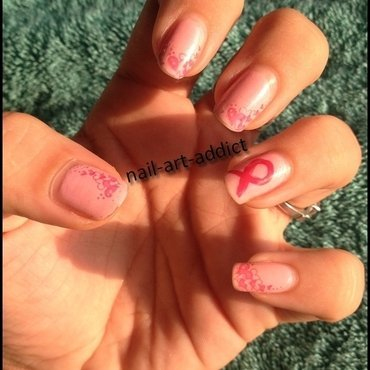 Nail Art : Octobre Rose nail art by SowNails