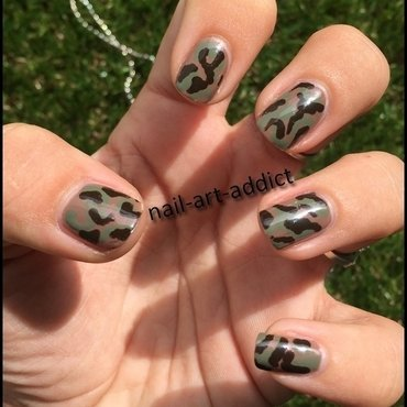 Nail Art: Army Nails nail art by SowNails