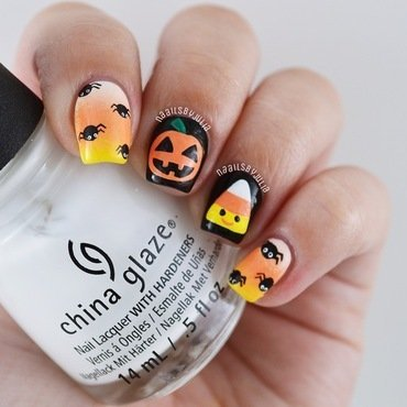 Mix & match halloween designs nail art by Julia