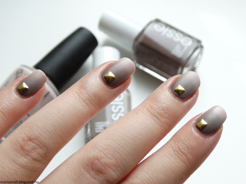 STUDDED OMBRE - AUTUMN NAILS nail art by Maria