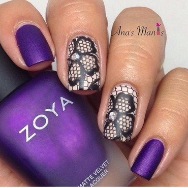 Lace nails nail art by anas_manis