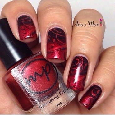 Double stamping nail art by anas_manis