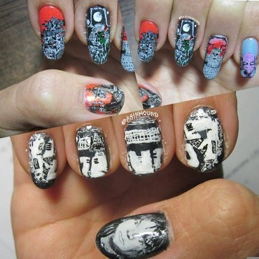 Thrash Metal Nail Art: Voivod nail art by Rainwound