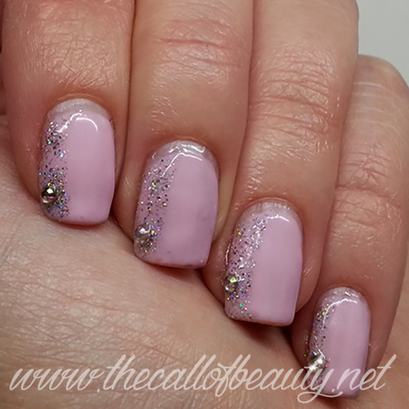 Side Glitter French nail art by The Call of Beauty - Nailpolis ...