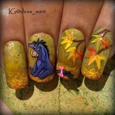 EEyore nail art by Dess_sure