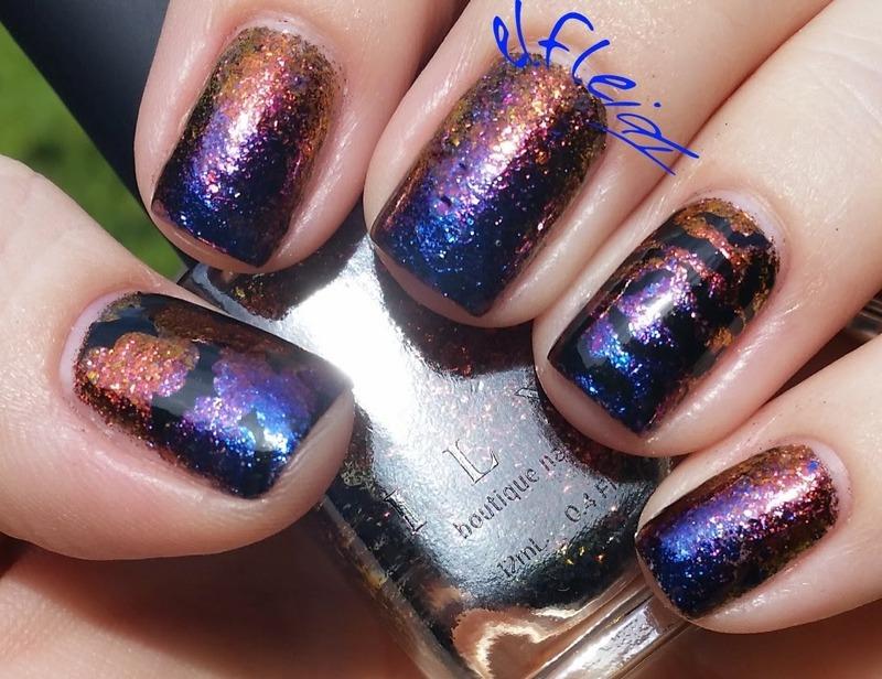 30DoCC/PAAManiMonday 10-19-2015 nail art by Jenette Maitland-Tomblin