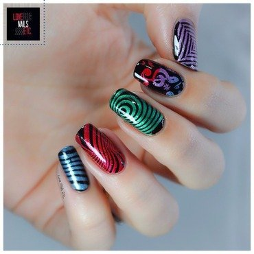Music #StampingMaster nail art by Love Nails Etc