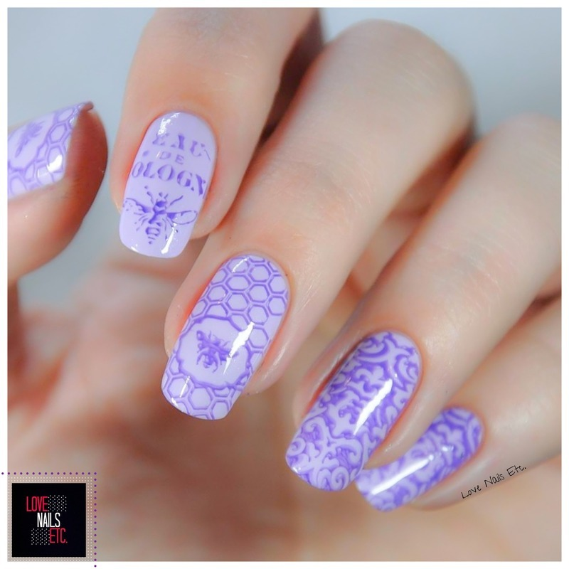 Parma & Violet #StampingMaster nail art by Love Nails Etc