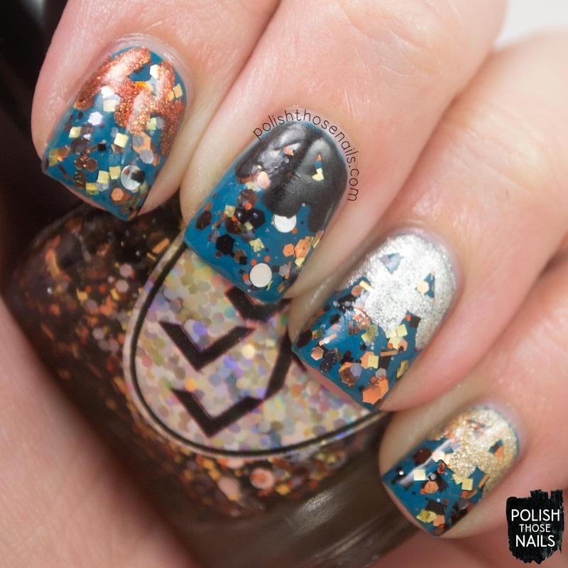 Steampunk Gears nail art by Marisa  Cavanaugh