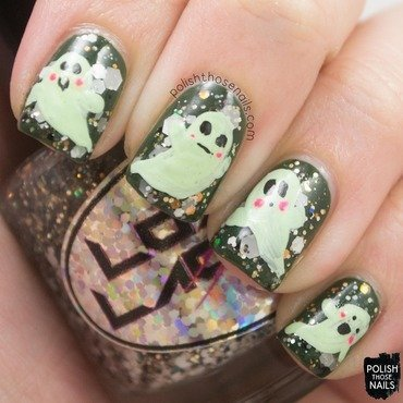 Ghosties nail art by Marisa  Cavanaugh