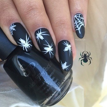 Spiders nail art by Massiel Pena