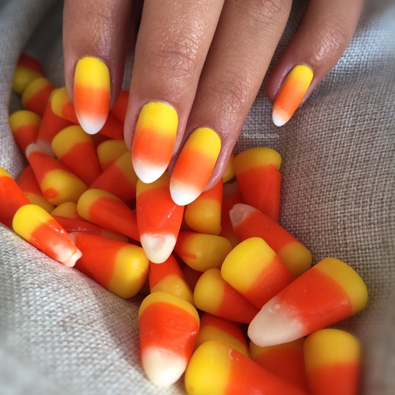 Candy corn nail art by Massiel Pena - Nailpolis: Museum of ...