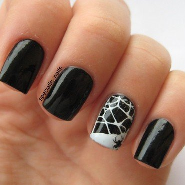 Little spider nail art by specialle