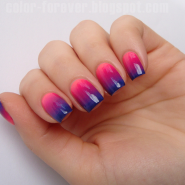 colorful gradient nail art by ania