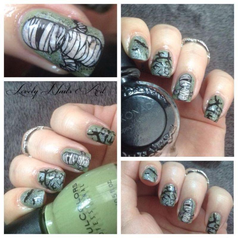nail art stamping *momie* nail art by Lovely Nail's  Art