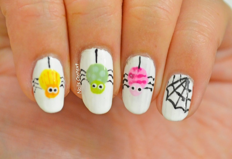 Creepy Crawlers nail art by NailsContext