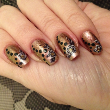 Floral Fall nail art by Rox