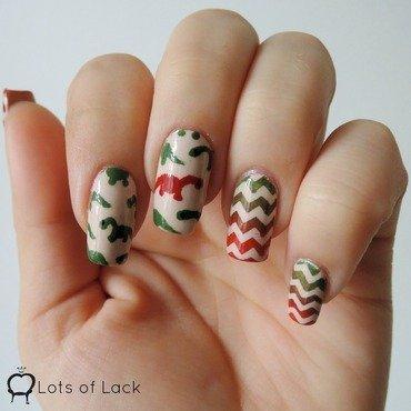 Dinosaur Nails nail art by LotsOfLack