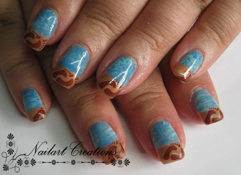 Beach Theme nail art by Nailart Creations
