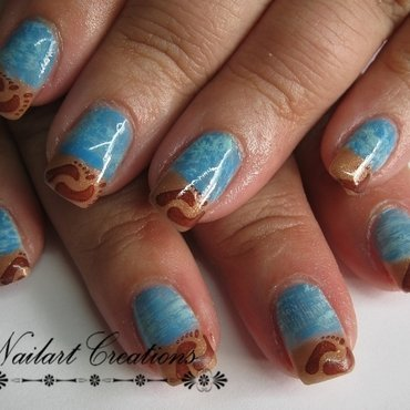 Beach Theme nail art by Nailart Creations