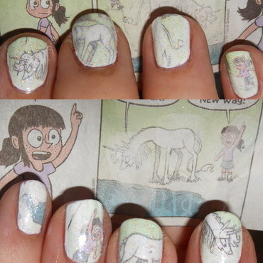 Sunday Comics: Pheobe and Her Unicorn nail art by Cecilia Brown