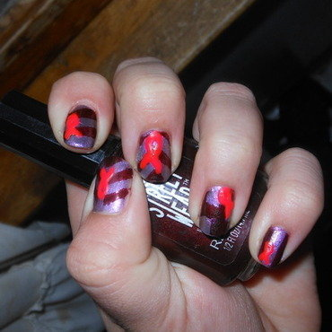 Biology and Breast Cancer nail art by Cecilia Brown