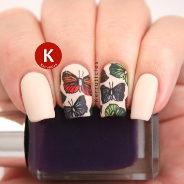 Butterflies nail art by Claire Kerr