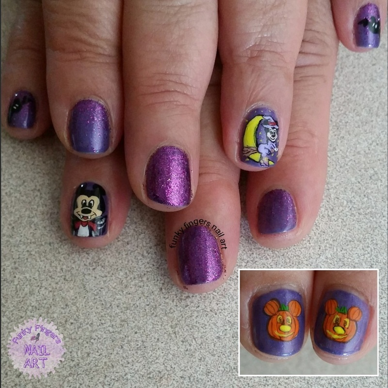 Disney Halloween Nails Nail Art By Funky Fingers Nail Art