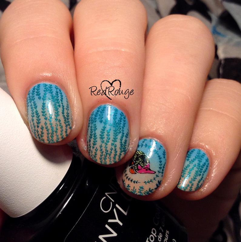 aquarium nail art by RedRouge