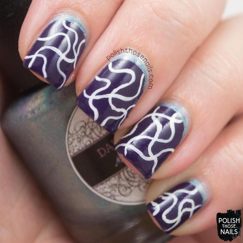 Wavy Ruffians nail art by Marisa  Cavanaugh