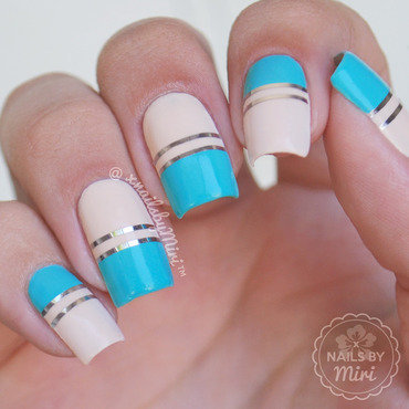 Striping Tape Mani nail art by xNailsByMiri