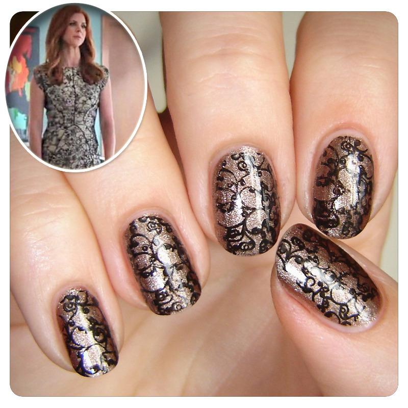 Donna's dress nail art by KataTM