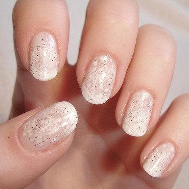 Snowflake nail art by KataTM