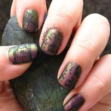 Matching Manicures - Halloween nail art by Vedrana Brankovic
