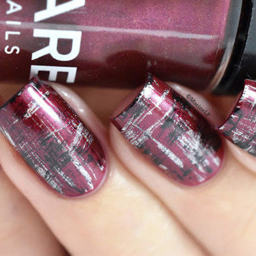 Abstract tartan nails dry brush 20 1  thumb370f
