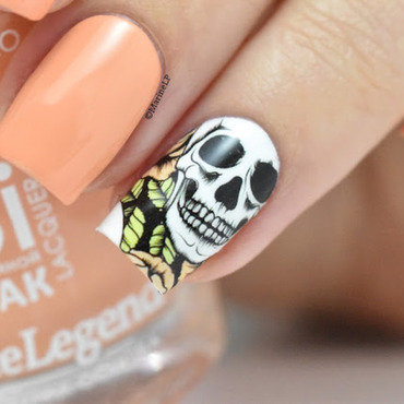 Halloween skull water decals nails 20 7  thumb370f