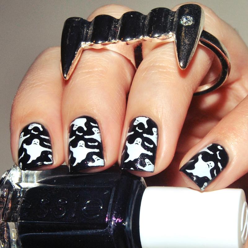 Ghost Town nail art by Lackopfer