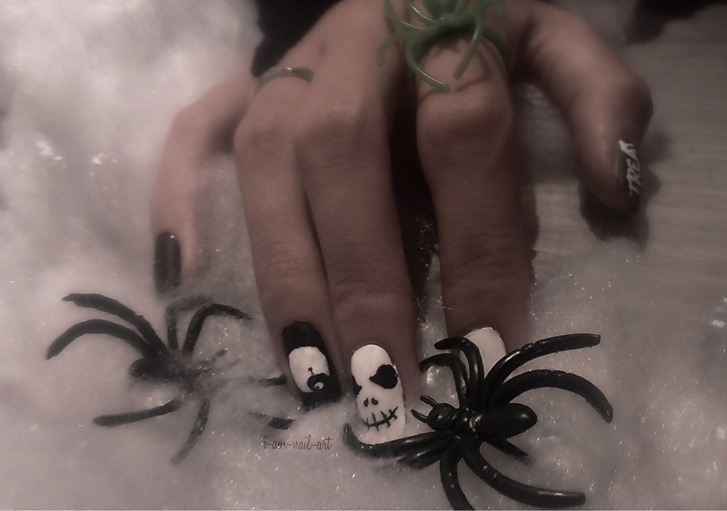 Halloween / The Nightmare Before Christmas nail art by i-am-nail-art