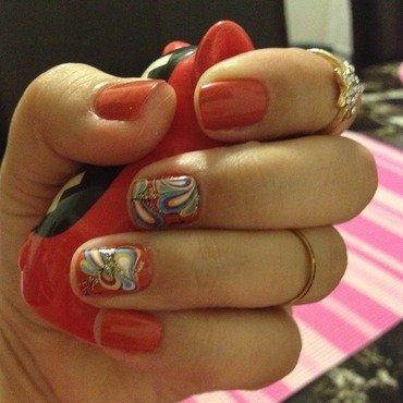 Papillon nail art by Elyana