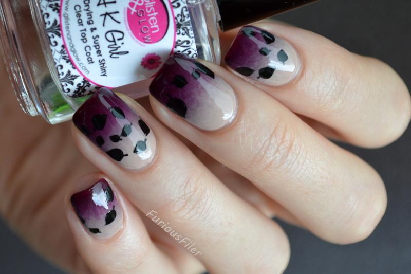 Autumn chill nail art by Furious Filer