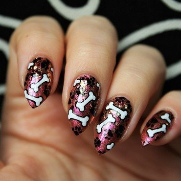 Bones nail art by Jane