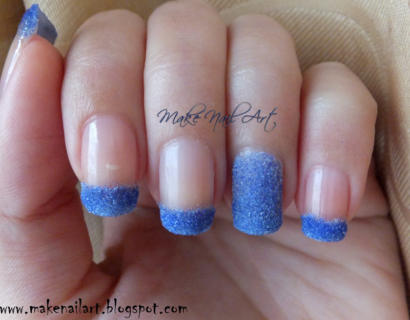 Glitter Powder Nail Art Design nail art by Make Nail Art