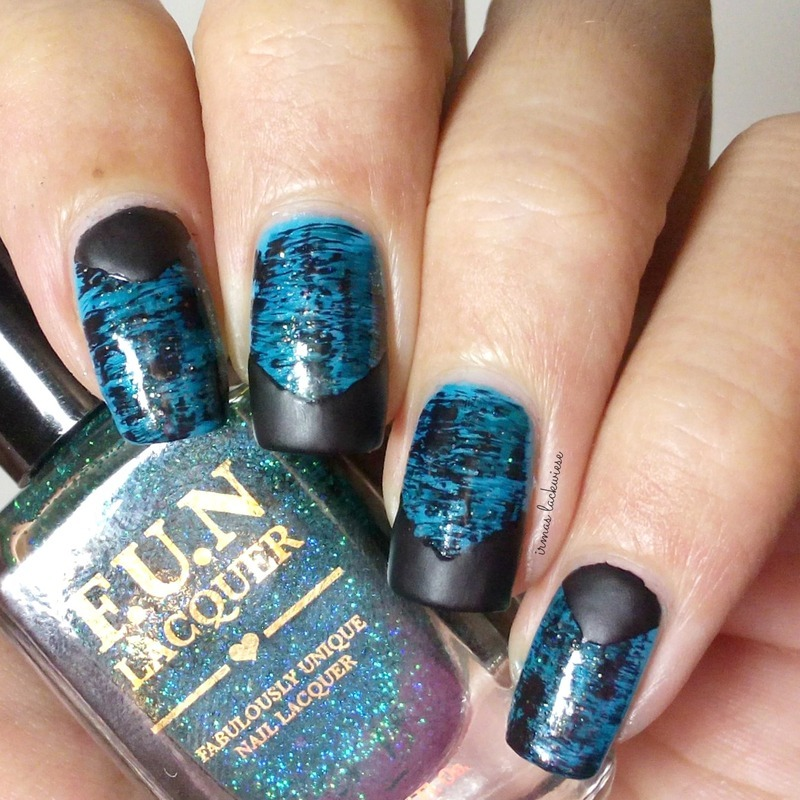 distressed nails + french nail art by irma